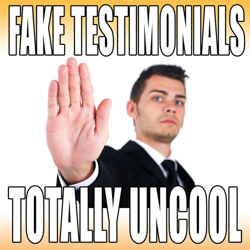 content marketing storytelling is not about fake testimonials